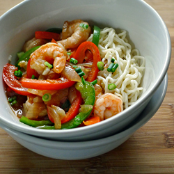 Tofu Noodles with Peppers