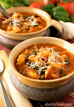 Tomato Tortellini Soup Slow Cooker Recipe