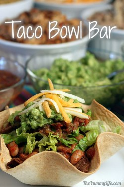 Tortilla Bowl Taco Bar