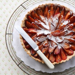 Traditional plum tart