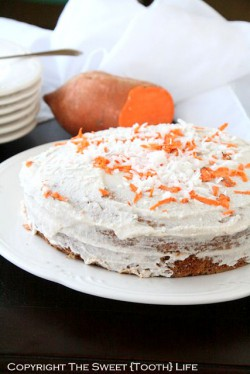 Triple Coconut Sweet Potato Cake