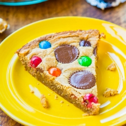 Triple Peanut Butter Cookie Pie Recipe