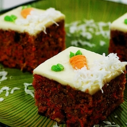 Tropical Carrot Cake Squares