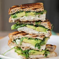 Turkey Avocado and Goat Cheese Panini Recipe