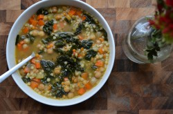 Tuscan Kale and Chickpea Soup Recipe