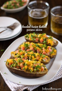 Twice Baked Potato Skins Recipe