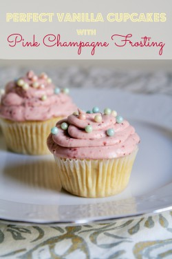 Vanilla Cupcake with Champagne