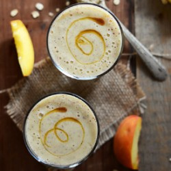 Vegan Peach Oat Chia Smoothie