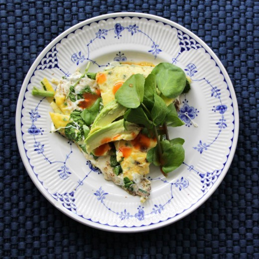 Watercress/Fresh Mozzarella Omelet