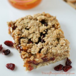 Whole Grain Cranberry Apricot Bars