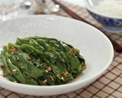 Yu Choy Sum in Garlic Soy Recipe