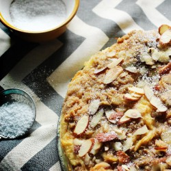 Almond Bread Pudding with Caramel