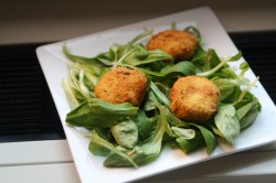 Almond Crusted Fried Goat Cheese Recipe