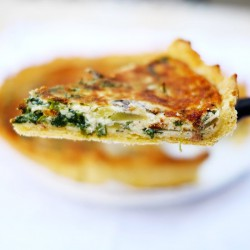 Anchovies and Spinach Quiche