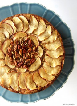 Apple Pecan Olive Oil Cake Recipe