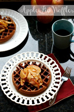 Apple Pie Waffles with Cider Syrup Recipe