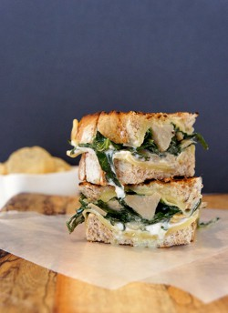 Artichoke Heart and Spinach Grilled Cheese Recipe