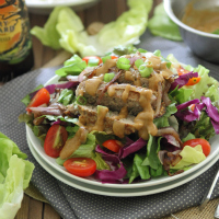 Asian Turkey Burger Salad