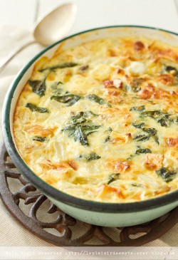 Asparagus and Spinach Clafoutis