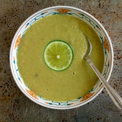 Asparagus, Cayenne and Lime Soup