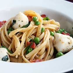 Bacon and Mozzarella Linguine Recipe