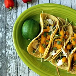 Baja Fish Tacos with Mango Salsa Recipe