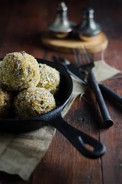 Baked Chicken and Pumpkin Arancini Recipe