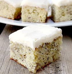Banana bars with frosting