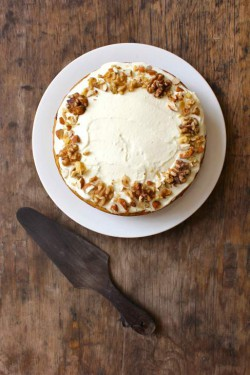 Banana Carrot Cake with Ricotta Honey Frosting Recipe