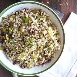 Barley Salad with Cranberries and Pistachios Recipe