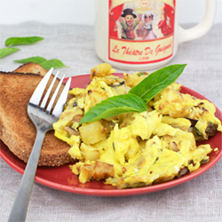 Basil Veggie Scramble Recipe