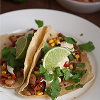 Bean and Corn Fajitas Recipe
