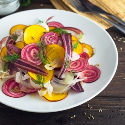 Beet Fennel and Carrot Salad Recipe