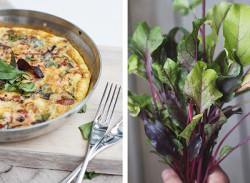 Beet Green and Mushroom Frittata Recipe