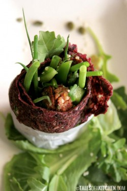 Beetroot celery wrap
