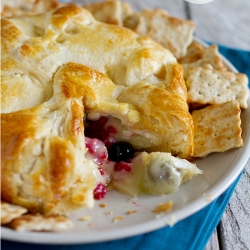 Berry Stuffed Crescent Wrapped Brie Cheese Recipe