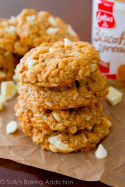 Biscoff White Chocolate Cookies Recipe