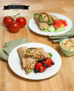 Blackened Chicken Salad Wraps