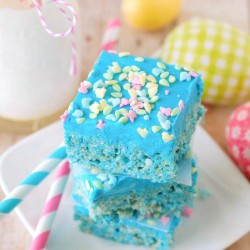 Blue Raspberry Rice Krispie Treats