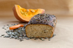 Bread with pumpkin seeds
