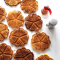 Brown Butter Yeast Waffles Recipe