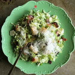 Brussels Sprout Caesar Salad with Bacon Recipe