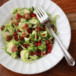 Brussels Sprout Salad with Citrus Dressing and Pomegranate Recipe
