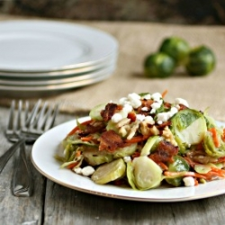 Brussels Sprouts Salad with Bacon and Walnuts Recipe