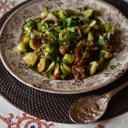 Brussels Sprouts with Chestnuts and Pancetta Recipe