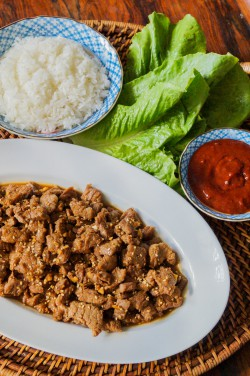 Bulgogi Ssam Korean Marinated Beef Lettuce Wraps Recipe