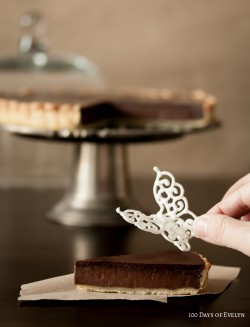 Butterfly Chocolate Tart