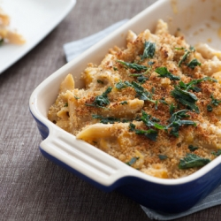 Butternut Squash Mac and Cheese with Crispy Sage Recipe