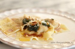 Butternut Squash Ravioli with Pine Nuts and Browned Butter Recipe