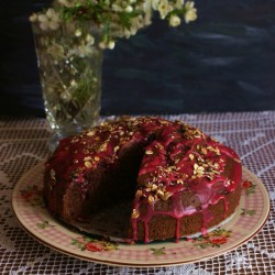 Cacao Cake with Cherries